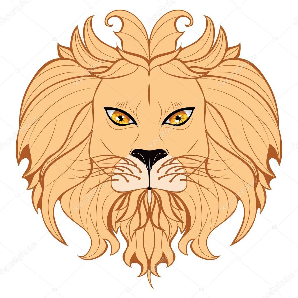 1024x1024 Stylized Lion Head Stock Vector Artshock