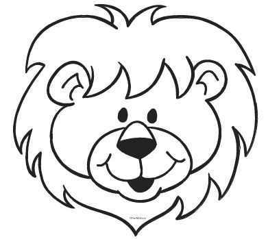 391x349 Lion Face Clipart Black And White Cliparts