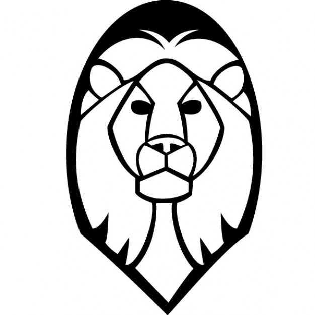 626x626 Lion Head Vector Clip Art Vector Free Download On Lion Face Clip