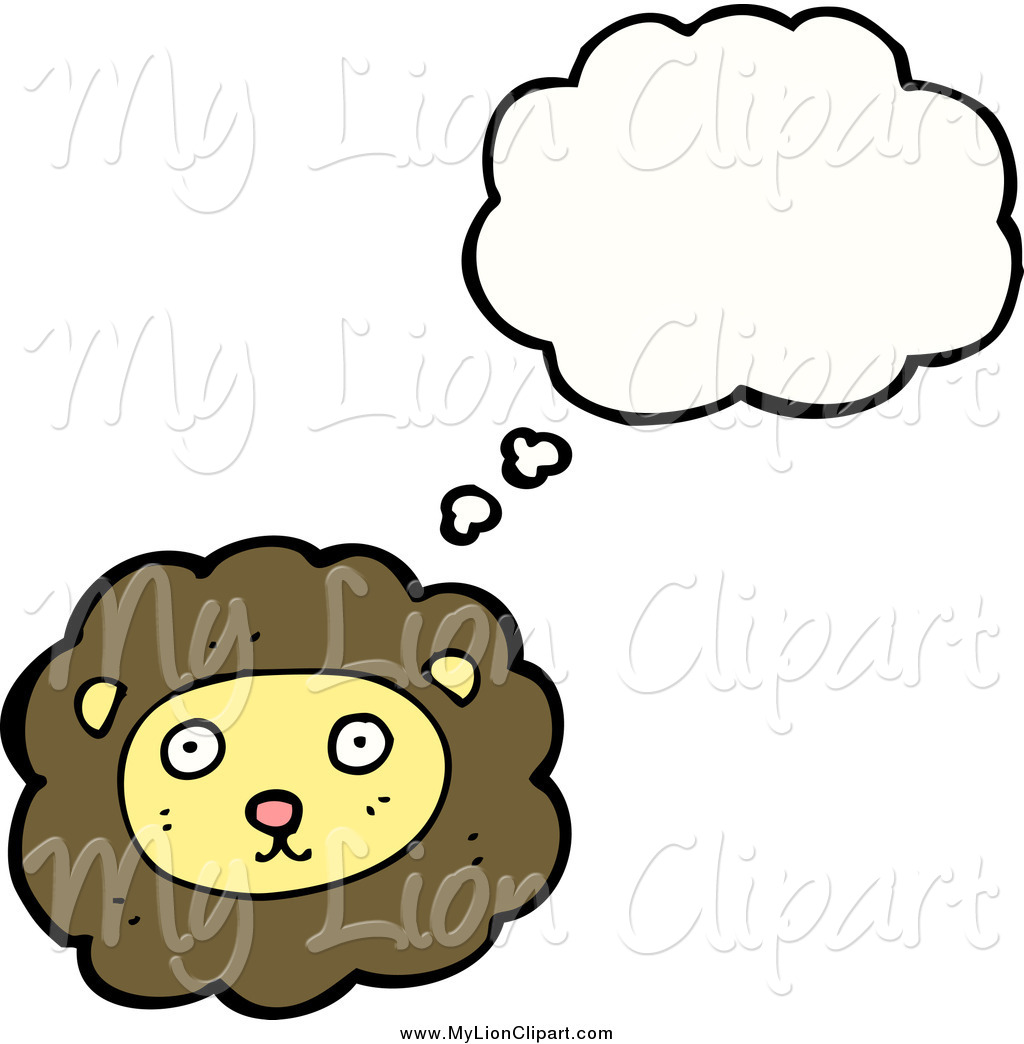 1024x1044 Clipart Of A Thinking Brown And Yellow Lion Face By