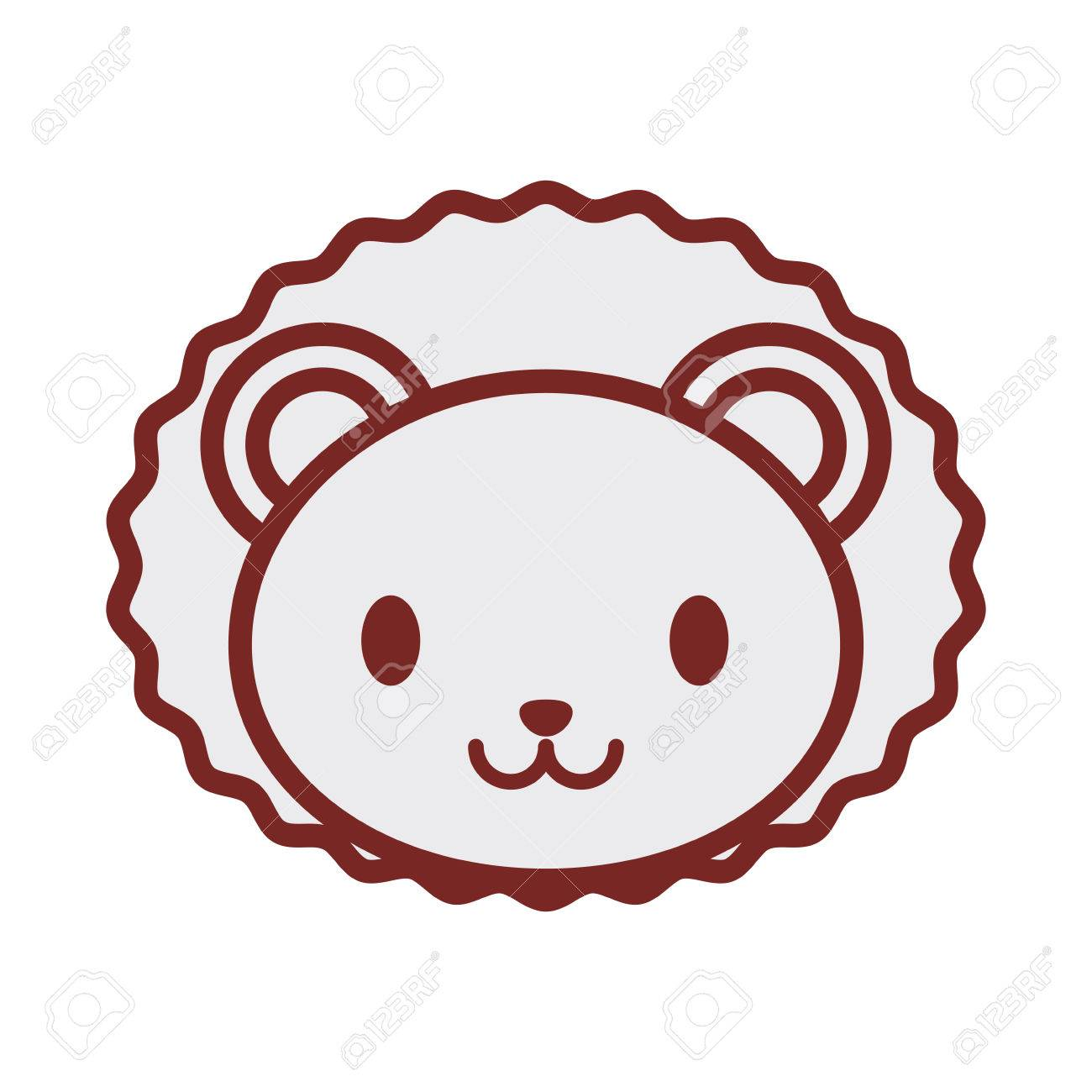 1300x1300 Cute Lion Face Image Vector Illustration Royalty Free Cliparts