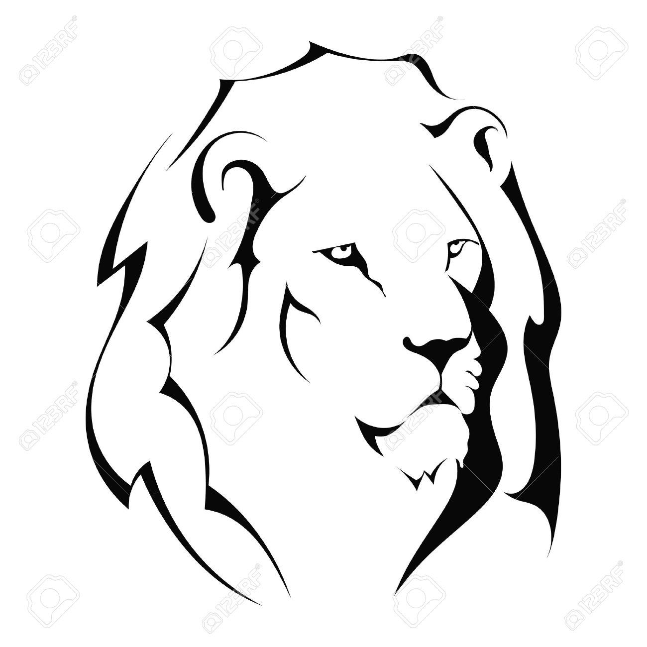 1300x1300 Drawn Lion Face Outline