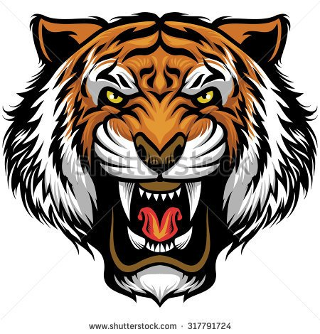 450x470 Drawn Tigres Angry Lion Face