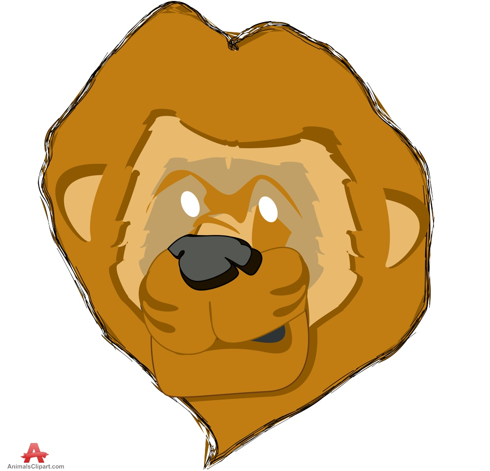 999x960 Funny Lion Face Portrait Free Clipart Design Download