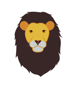 256x300 Illustration Of A Face Of A Lion Royalty Free Stock Image