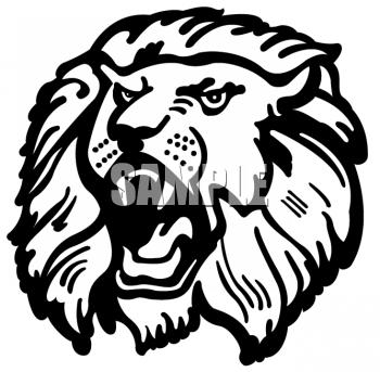 350x343 Lion Face Clipart