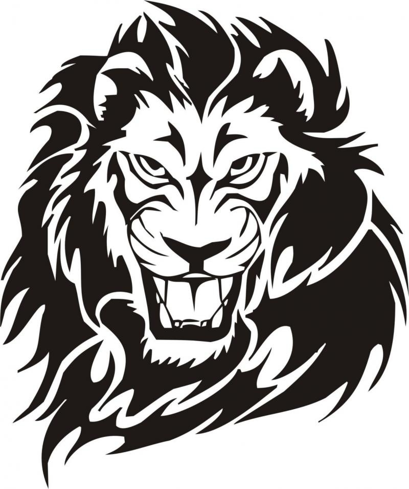 800x955 Lion Face Clipart Black And White Letters Example
