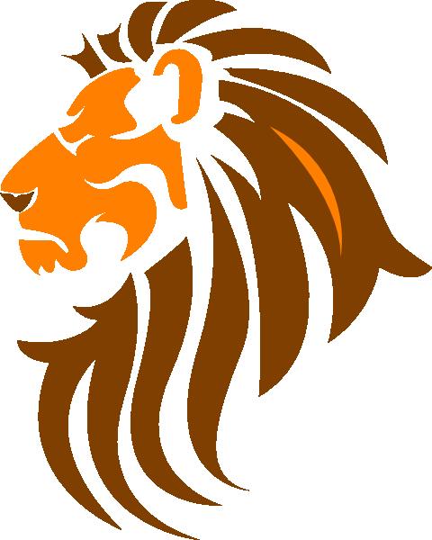 480x600 Lion Face Stencil