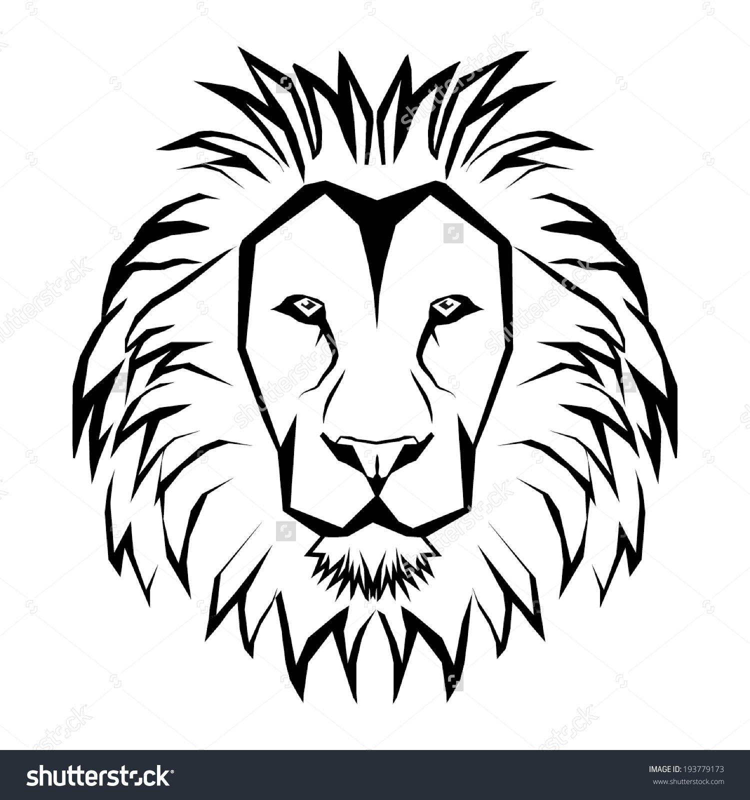 1500x1600 Lion Clipart Face Outline