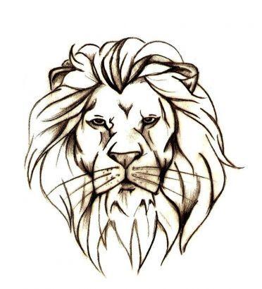 372x410 Best Lion Head Drawing Ideas Roaring Lion