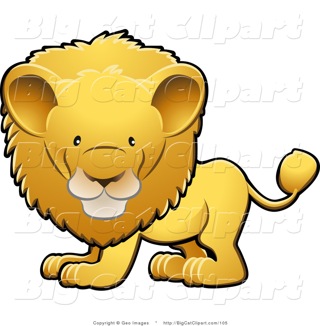 1024x1044 Cute Lion Head Clipart Big Cat Clipart Of An Adorable Golden Male