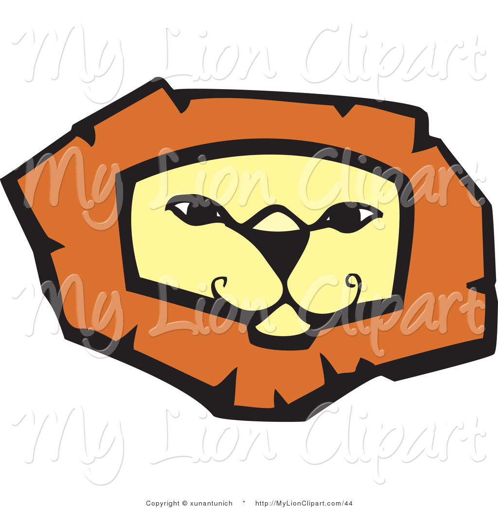 1024x1044 Clipart Of A Confident And Smiling Lion Face By Xunantunich