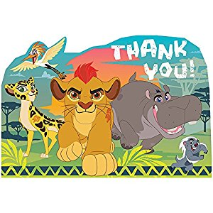 300x300 Lion Guard Thank You Notes 8 Count Lion King Birthday