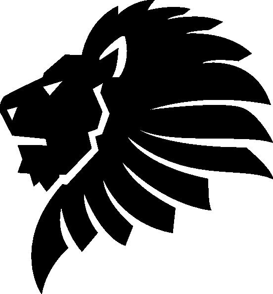 552x594 Black Lion Head Clip Art