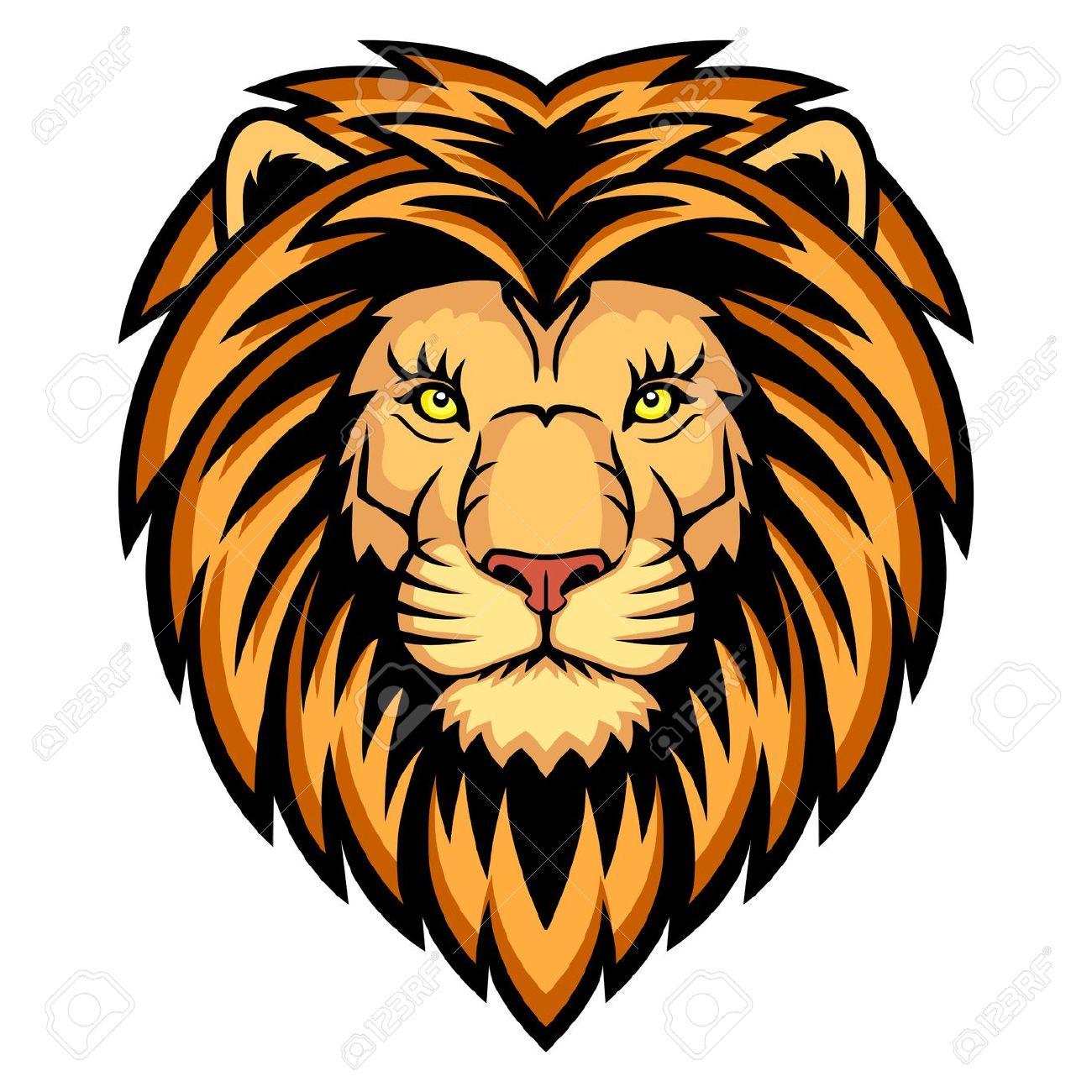 1300x1300 Color Lion Head Clipart