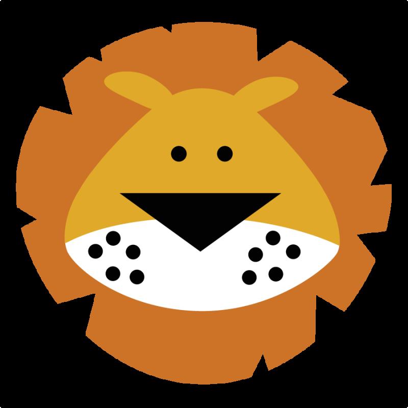 800x800 Lion Face Clip Art