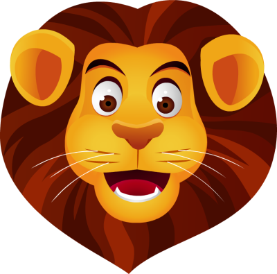 400x395 Lion Head Clipart