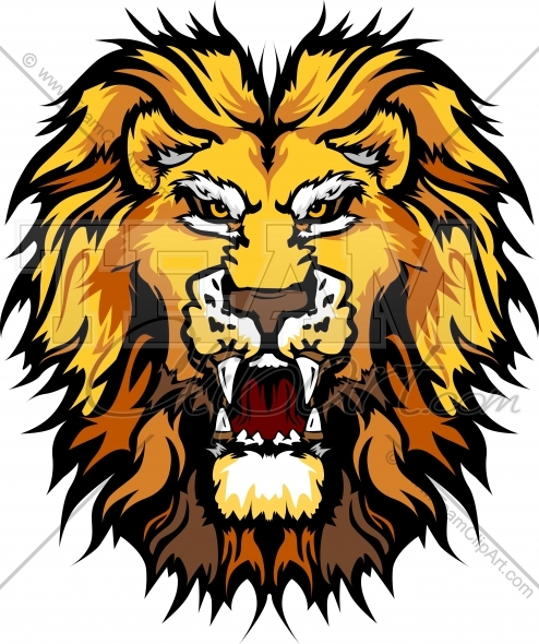 494x590 Lion Head Clipart Image. Easy To Edit Vector Format.