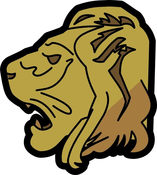 534x595 Lion Head Clip Art Free Vector In Open Office Drawing Svg ( Svg