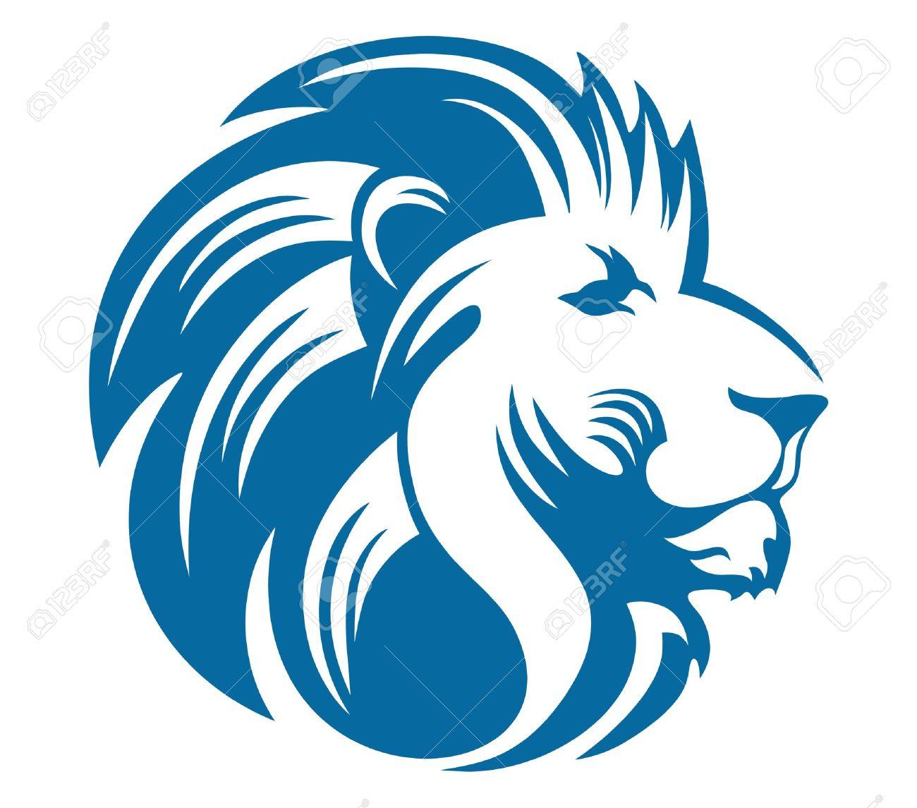 1300x1145 Lion Clipart Blue