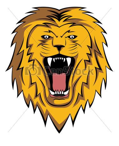 381x470 Roaring Lion Clipart