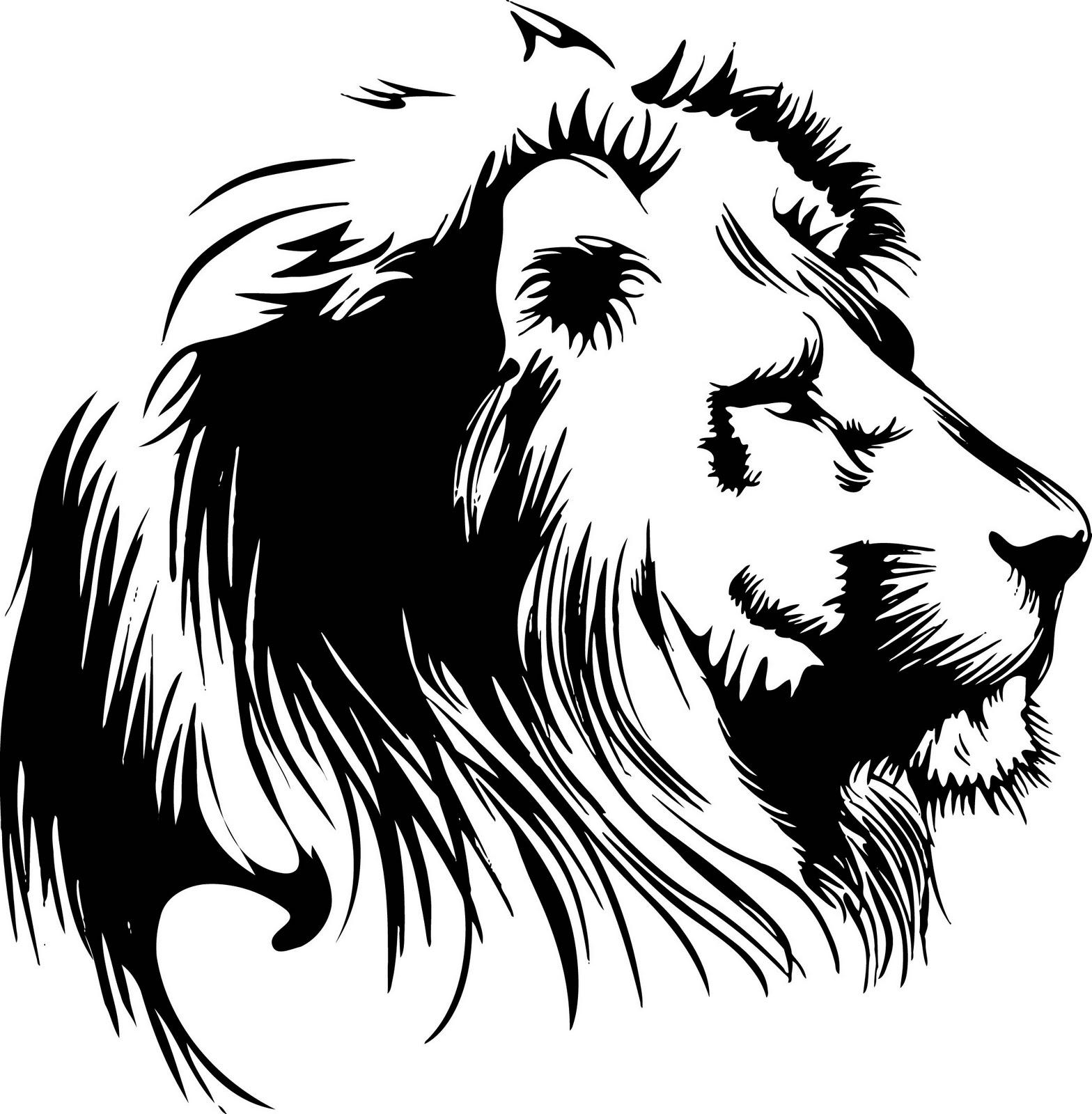 1568x1600 Top Lion Head Clip Art Black And Pictures