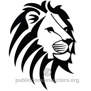 300x300 Lion Head Clip Art Black And Clipart Panda