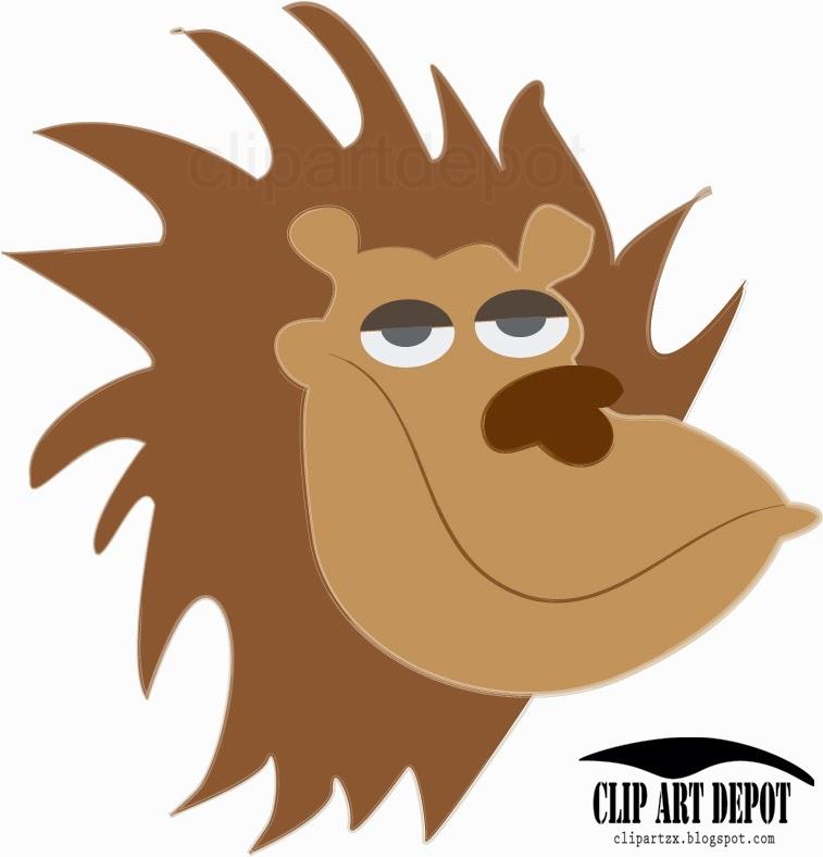 757x788 Lion Head Clip Art