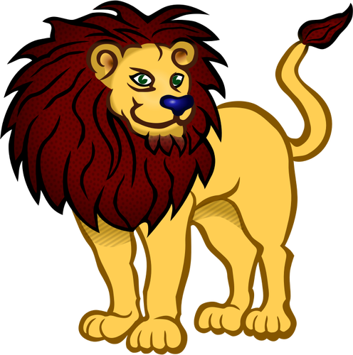 496x500 7721 cartoon lion head clip art Public domain vectors