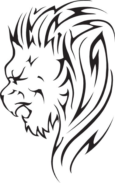 378x600 Lion clipart lion head