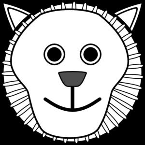 300x300 Lion Face Clip Art