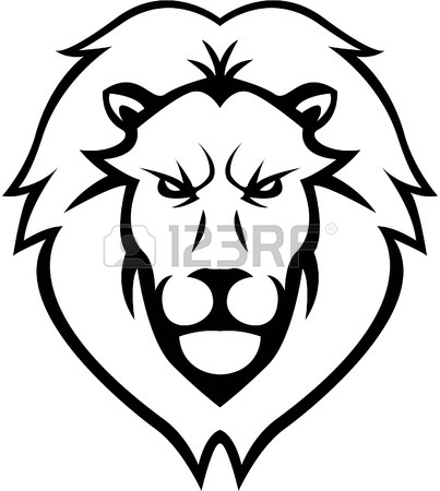 403x450 Lion Head Illustration Design Royalty Free Cliparts, Vectors, And