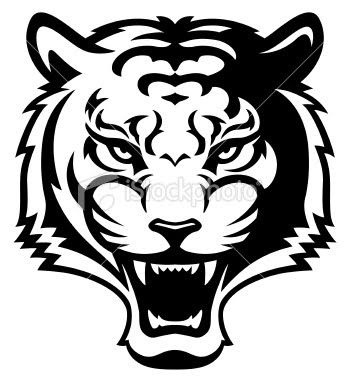 351x380 Tiger Head Clipart Black And White Letters Example