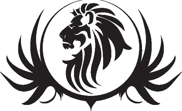 600x366 White Lion clipart lion face