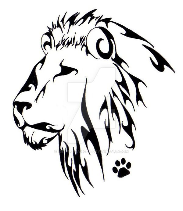 600x692 45 Best Simple Lion Head Tattoo Art Images Sketches