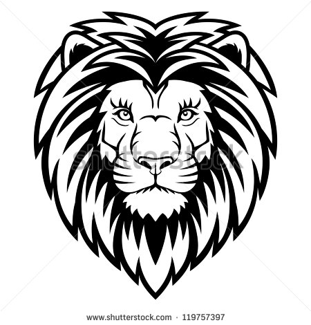 450x470 Drawn Lion Face