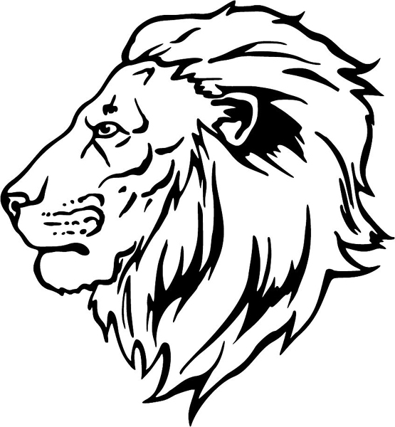 555x600 Drawn Lion Lion Head