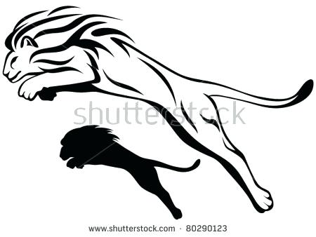 450x338 Outline Of Lion Fabulous Black Outline Sign Lion Tattoo Design