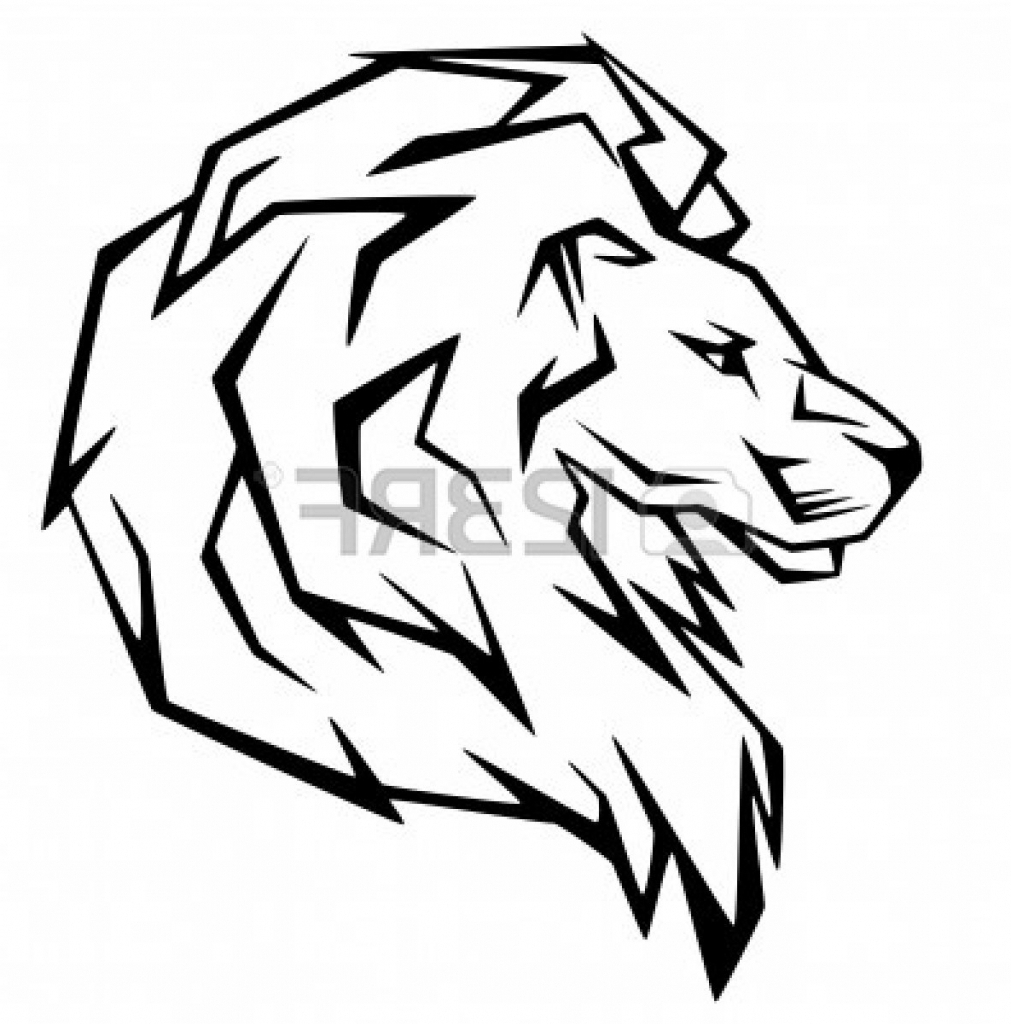 1011x1024 Simple Lion Face Drawing Lion Head Cliparts Stock Vector