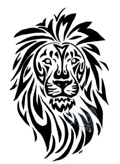 236x322 Lion Head Outline Tattoo