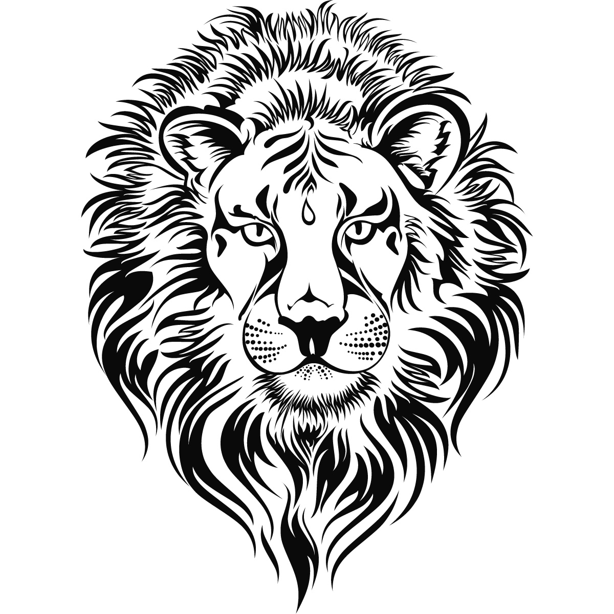 1200x1200 Drawing Of Lion Head Lion Head Drawing Free Download Clip Art