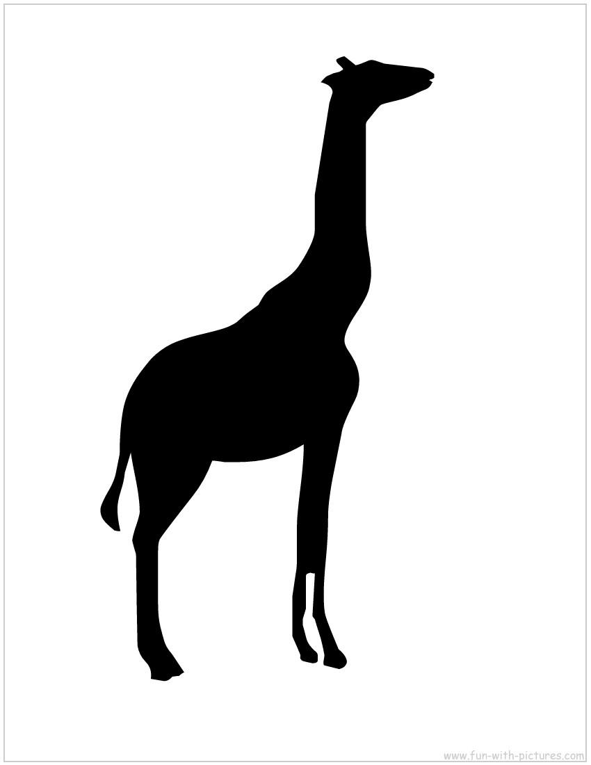 850x1100 Giraffe Silhouette Clip Art
