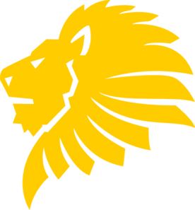 276x297 Gold Lion Head Clip Art
