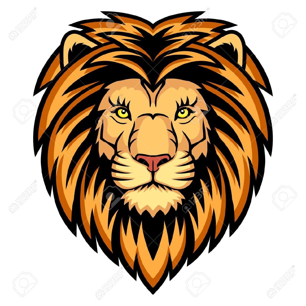 1300x1300 Lion Head Clip Art