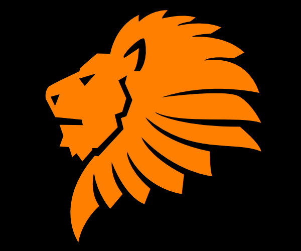 600x500 Lion Head Orange Clip Art