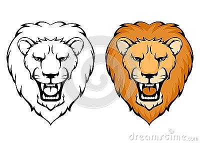 400x286 Simple Lion Clipart