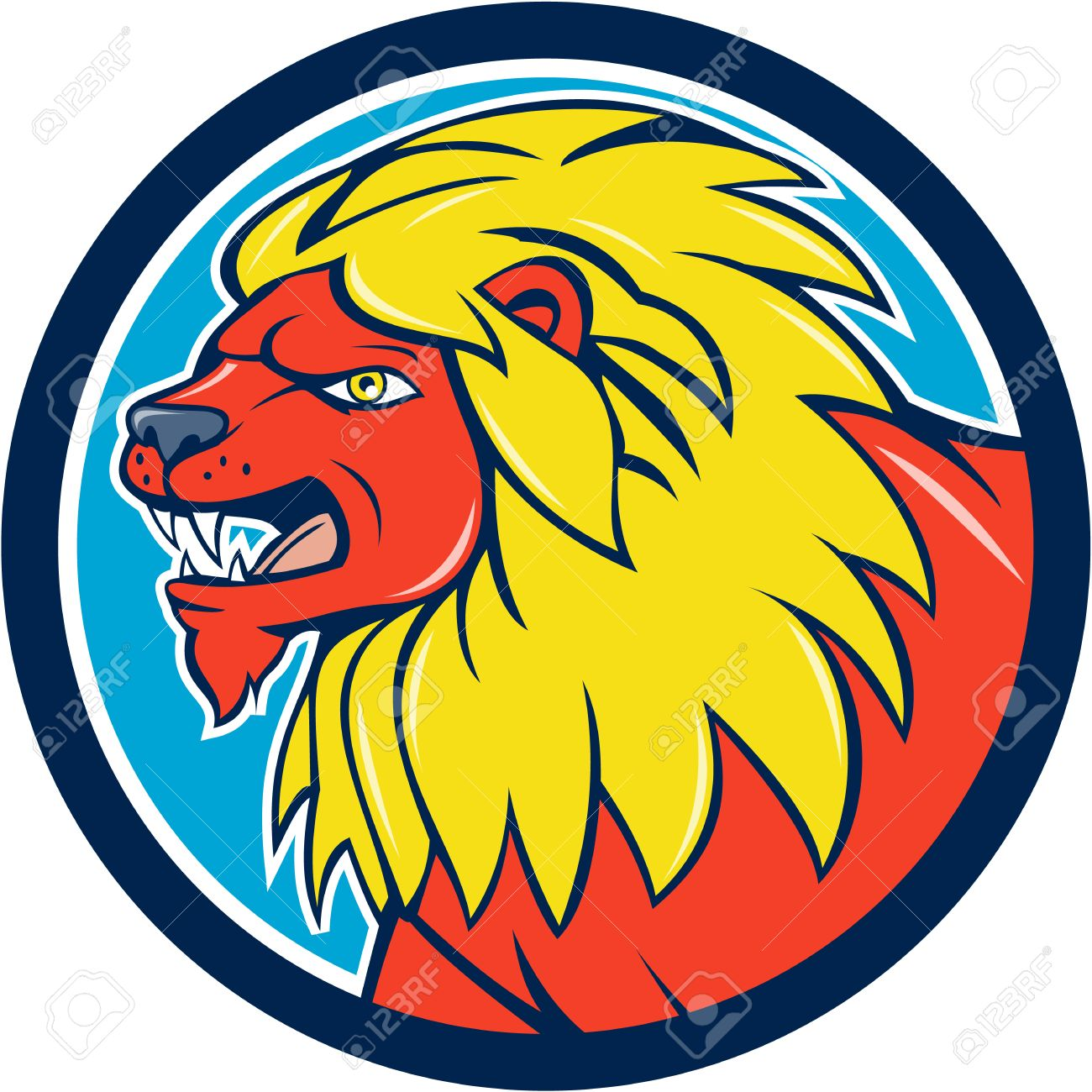 1300x1300 Big Cat Clipart Lion Head