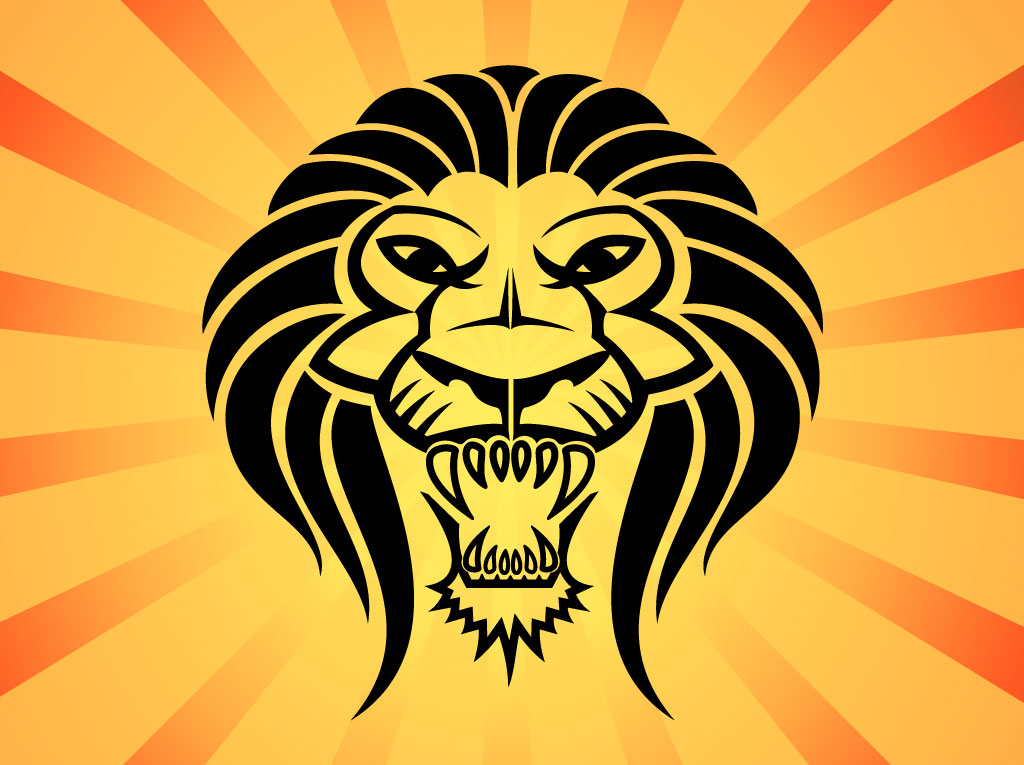 1024x765 Lion Head Vector Vector Art Amp Graphics