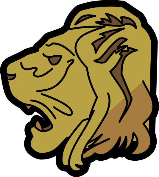 534x595 Lion Head Clip Art Free Vector 4vector