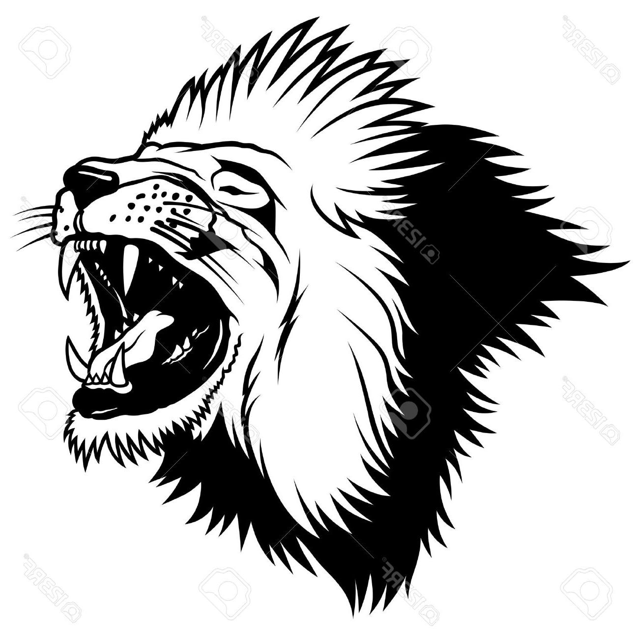 1300x1300 Best Hd Lion Head Hand Drawn Illustration Stock Vector Outline